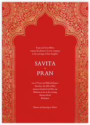 Dvaar (Invitation) - Red