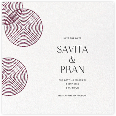 Ghera II (Save the Date) - White/Merlot - Paperless Post - Save the dates
