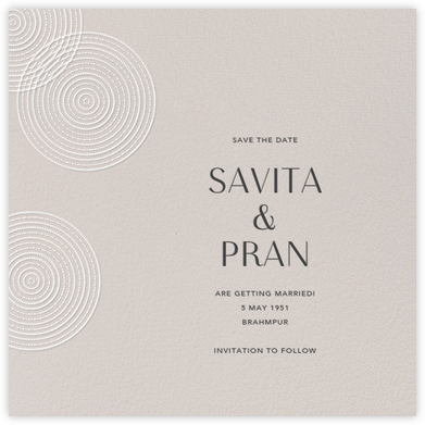 Ghera II (Save the Date) - Oyster - Paperless Post - Wedding Invitations