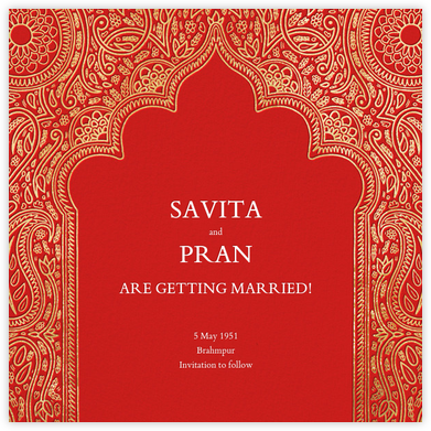 Dvaar (Save the Date) - Red - Paperless Post - Wedding invitations