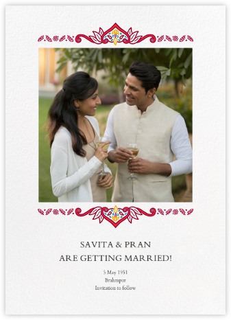 Dvaar (Photo Save the Date) - White - Paperless Post - Wedding Invitations