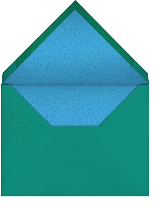 Dvaar (Photo Save the Date) - Teal - Paperless Post - Envelope