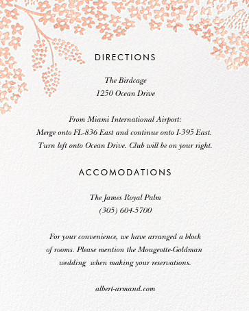 Heather and Lace (Invitation) - White/Rose Gold - Rifle Paper Co. - All - insert front