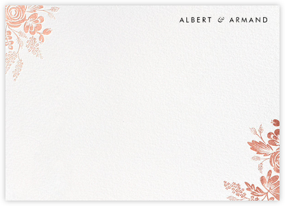Heather and Lace (Stationery) - White/Rose Gold | null