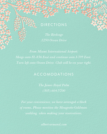 Heather and Lace (Invitation) - Celadon/Rose Gold - Rifle Paper Co. - All - insert front