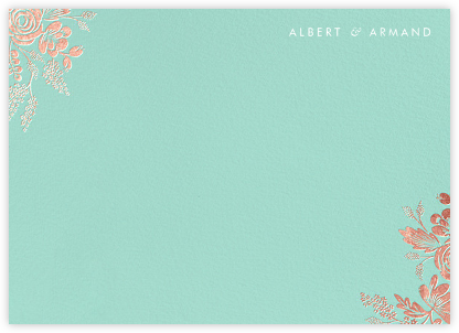 Heather and Lace (Stationery) - Celadon/Rose Gold | null