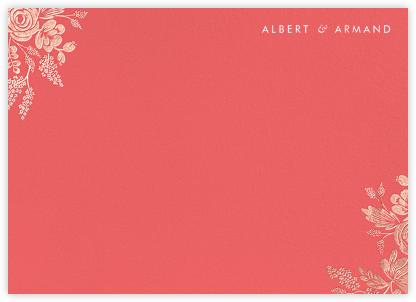 Heather and Lace (Stationery) - Coral/Rose Gold | null