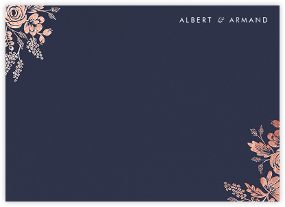 Heather and Lace (Stationery) - Navy/Rose Gold | null
