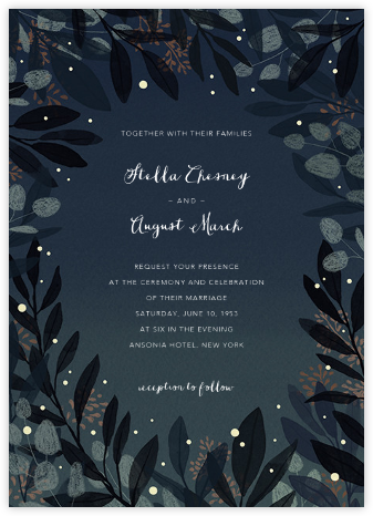 Laurelwood (Invitation) - Blue - Paperless Post - Wedding Invitations