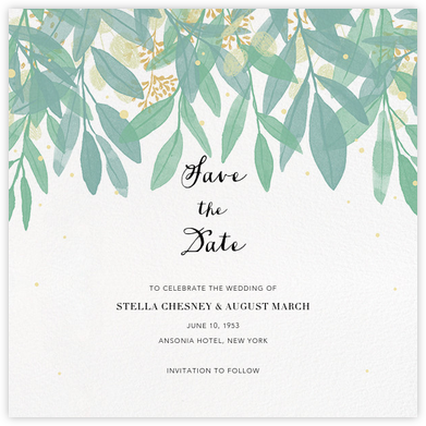 Laurelwood (Save the Date) - White - Paperless Post - Save the dates