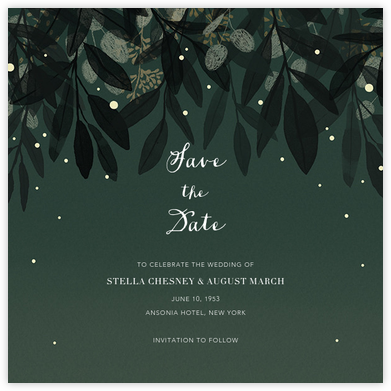 Laurelwood (Save the Date) - Green - Paperless Post -