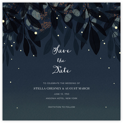 Laurelwood (Save the Date) - Blue - Paperless Post - Save the dates