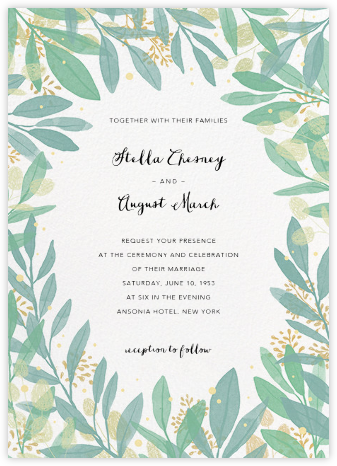 Laurelwood (Invitation) - White - Paperless Post - Wedding Invitations