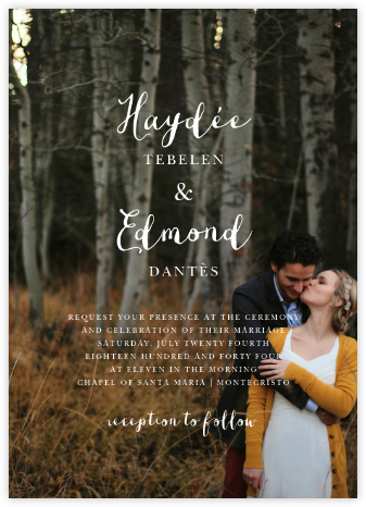 Pilier (Invitation) - Bellini - Paperless Post - Online Wedding Invitations