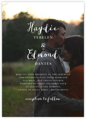Pilier (Invitation) - Spring Rain - Paperless Post - Wedding Invitations