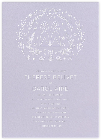 Iconic Brides (Invitation) - Lavender/White - Paperless Post - Wedding Invitations