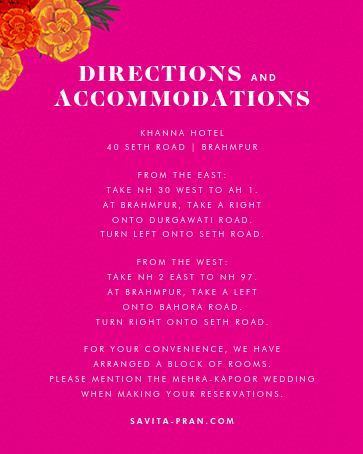 Benares (Invitation) - Bright Pink - Paperless Post - All - insert front