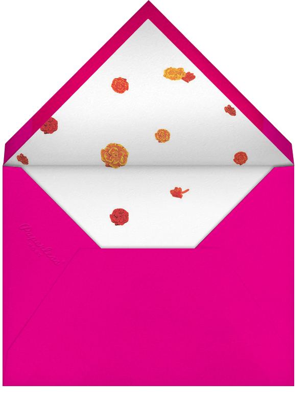 Benares (Save the Date) - Bright Pink - Paperless Post - Save the date - envelope back