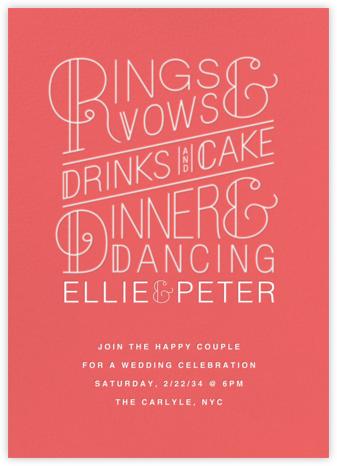Bulletin (Invitation) - Coral - Paperless Post - Wedding Invitations