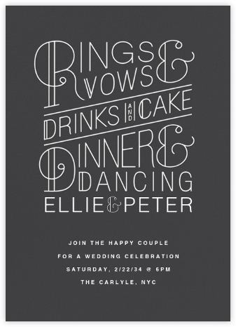 Bulletin (Invitation) - Slate - Paperless Post - Wedding Invitations