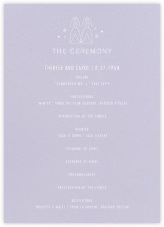 Iconic Brides (Program) - Lavender/White | null