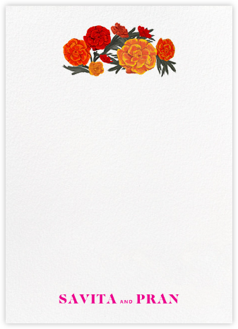 Benares (Stationery) - White - Paperless Post - Personalized Stationery