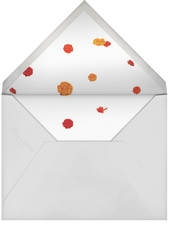 Benares (Stationery) - Caribbean - Paperless Post - Personalized stationery - envelope back