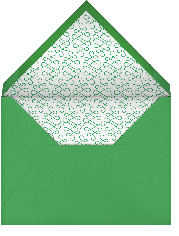 Bulletin (Stationery) - Emerald - Paperless Post - Envelope