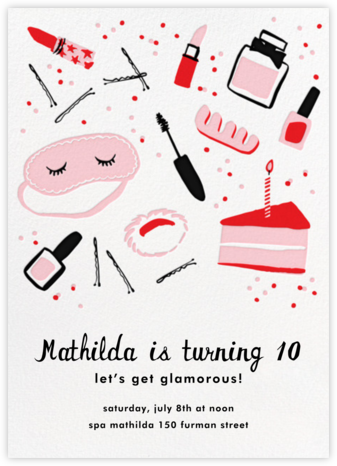 Birthday Beauty - Hello!Lucky - Online Kids' Birthday Invitations