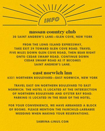 Chronology (Invitation) - Mustard - Paperless Post - All - insert front