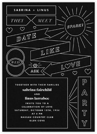 Chronology (Invitation) - Black - Paperless Post - Wedding Invitations