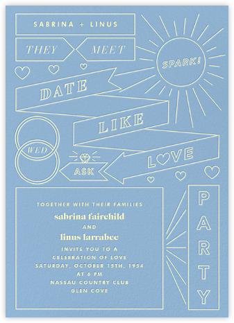 Chronology (Invitation) - Spring Rain - Paperless Post - Wedding Invitations