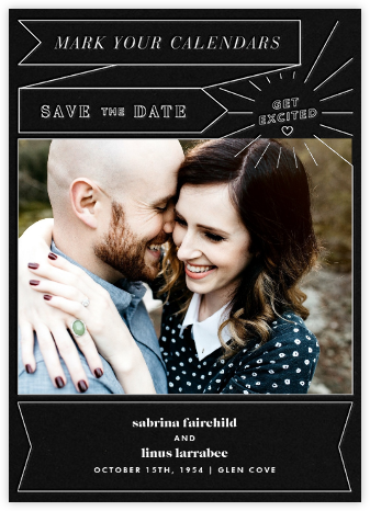 Chronology (Save the Date) - Black - Paperless Post - Modern save the dates