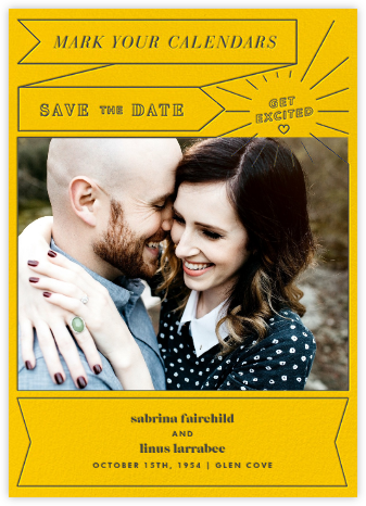 Chronology (Save the Date) - Mustard - Paperless Post - Save the dates
