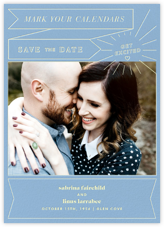 Chronology (Save the Date) - Spring Rain - Paperless Post - Save the dates