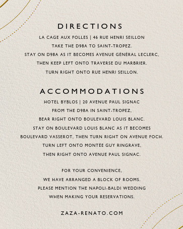 Normandie (Invitation) - Cream/Gold - Paperless Post - All - insert front