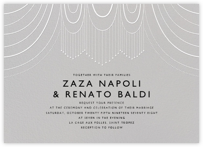 Normandie (Invitation) - Winter Gray - Paperless Post - Wedding Invitations