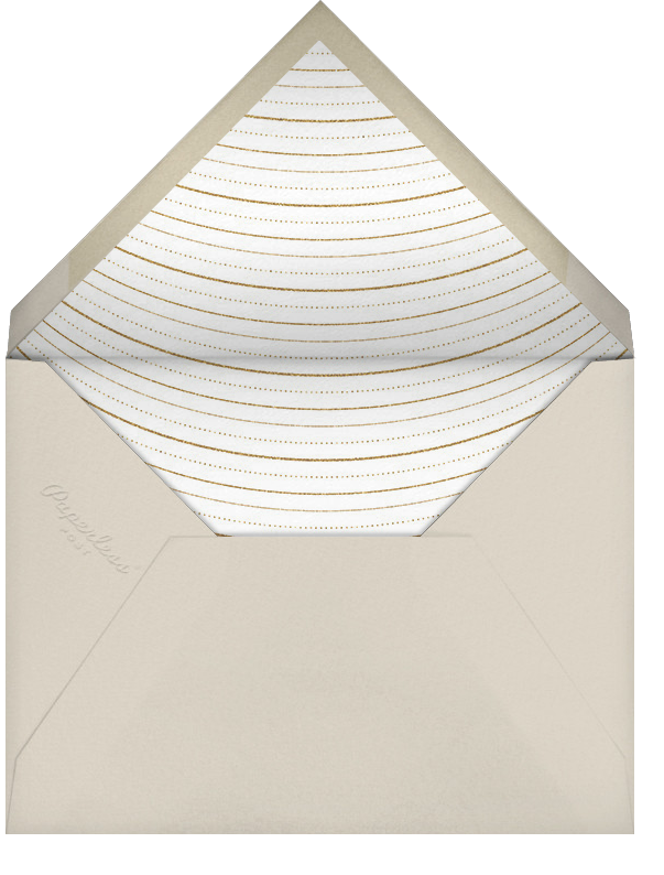 Normandie (Stationery) - Cream/Gold - Paperless Post - Personalized stationery - envelope back