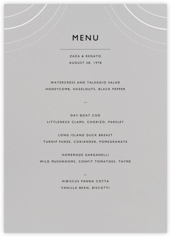 Normandie (Menu) - Winter Gray - Paperless Post - Wedding menus and programs - available in paper