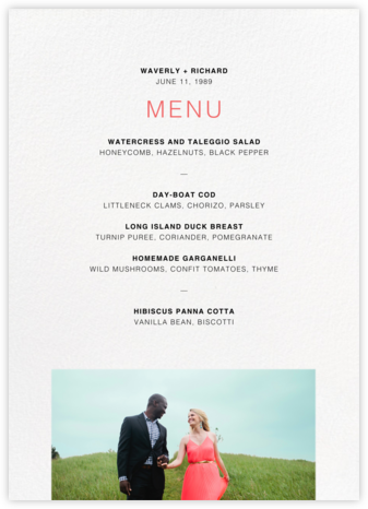 Tableau (Menu) - Paperless Post - Wedding menus and programs - available in paper