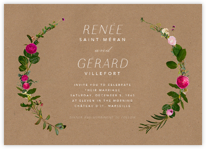 Belvoir (Invitation) - Chipboard - Paperless Post - Wedding Invitations