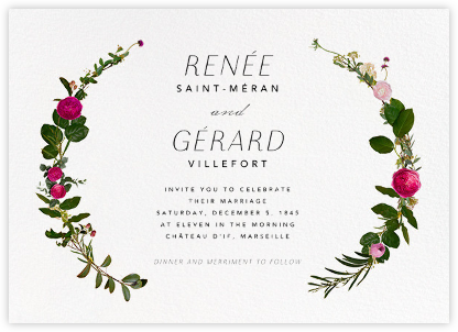 Belvoir (Invitation) - White - Paperless Post - Wedding Invitations