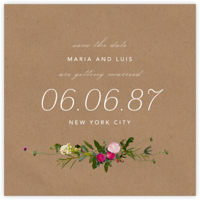Belvoir (Save the Date) - Chipboard - Paperless Post - Save the dates