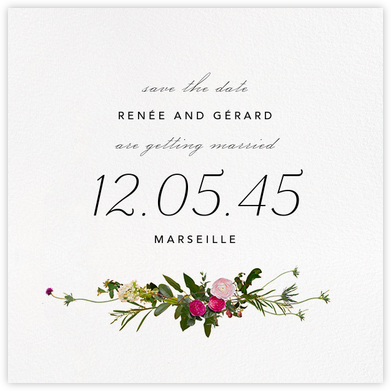 Belvoir (Save the Date) - White - Paperless Post - Wedding Save the Dates