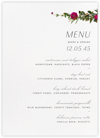 Belvoir (Menu) - White | tall