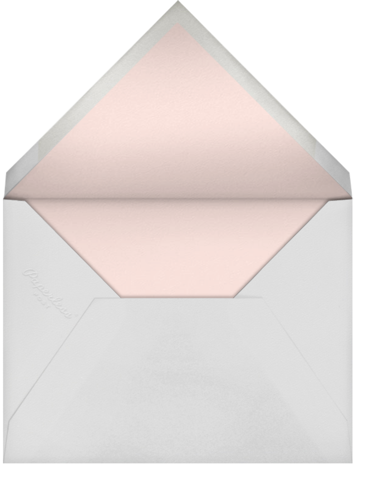 Radiant Swirls (Invitation) - Silver - Oscar de la Renta - All - envelope back