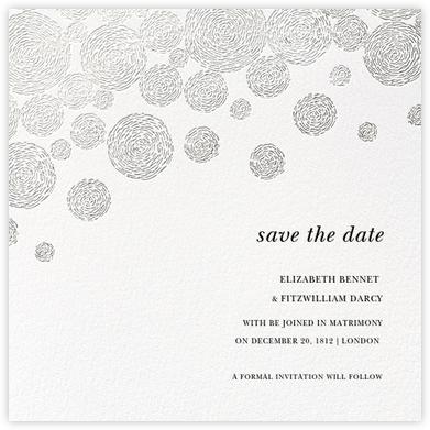 Radiant Swirls (Save the Date) - Silver - Oscar de la Renta - Save the dates