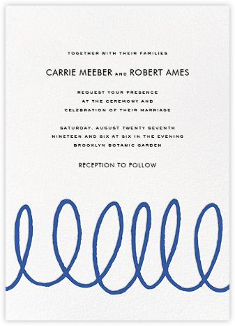 Charlotte Street II (Invitation) - Blue | null
