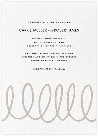 Charlotte Street II (Invitation) - Gray - kate spade new york - Wedding Invitations