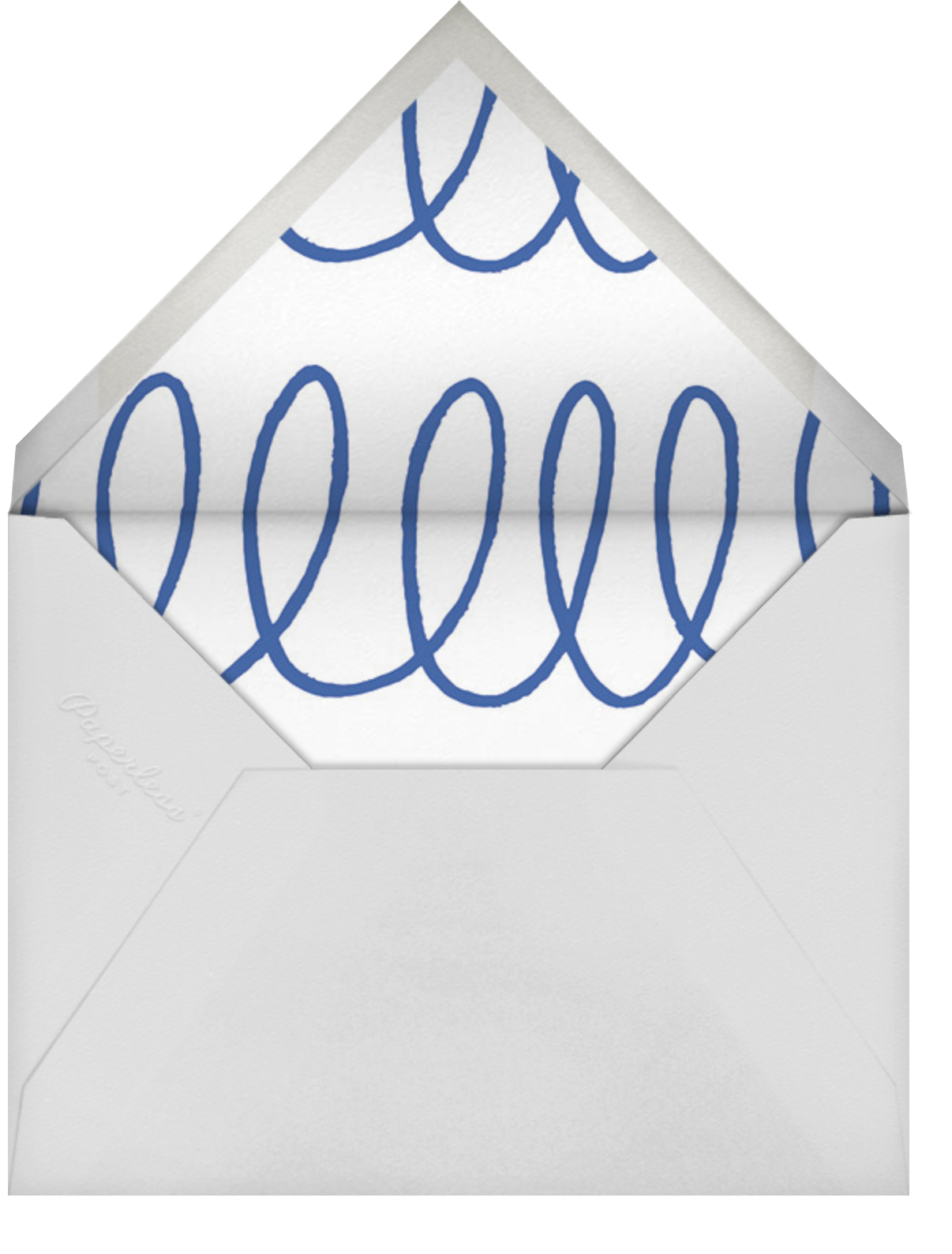 Charlotte Street II (Stationery) - Blue - kate spade new york - Wedding - envelope back